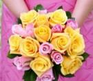 Bouquet rose rosa e gialle
