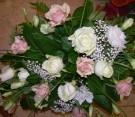 Centrotavola rose rosa e bianche
