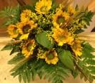 Bouquet di girasoli e grano