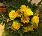 Bouquet rose gialle e girasoli