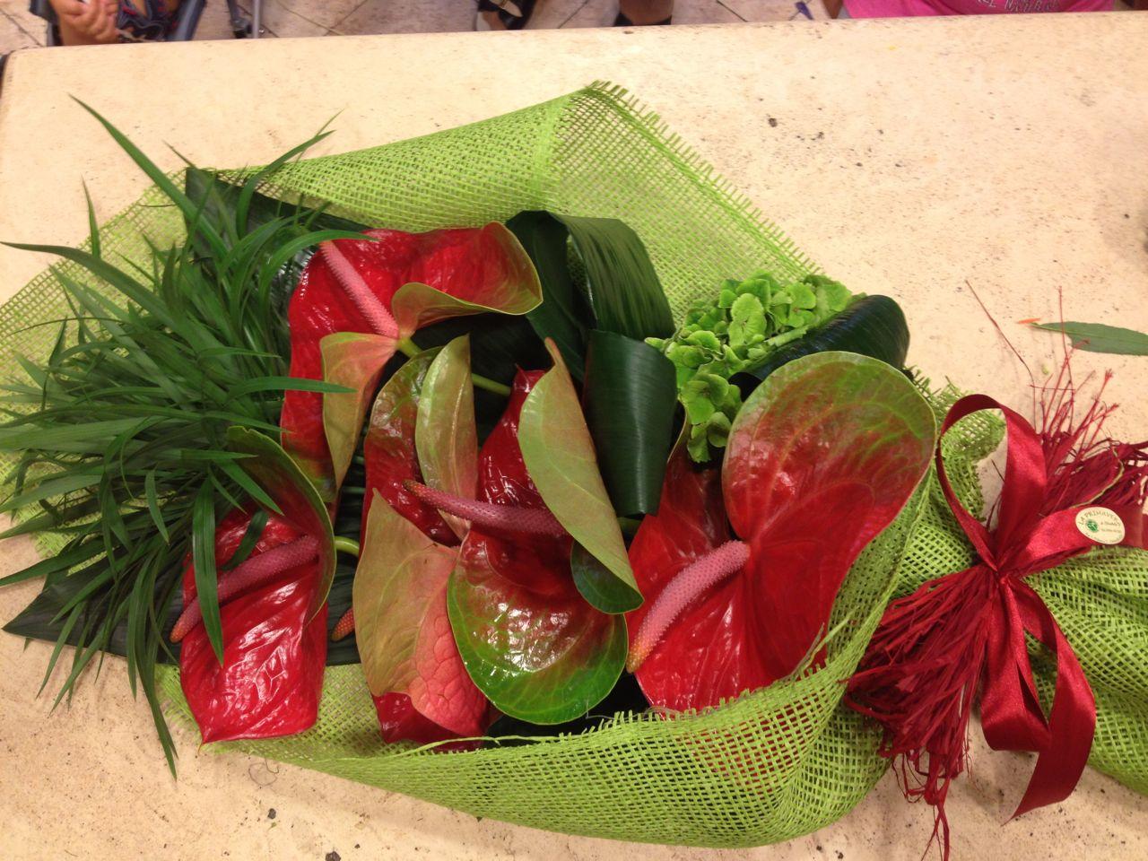 Elisabetta fiori e piante fascetto di anthurium rossi for Anthurium rosso