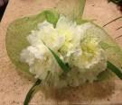Bouquet bianco con peonie e panicum