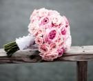 Bouquet di rose rosa antico