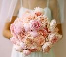 Bouquet di peonie e ranuncoli rosé