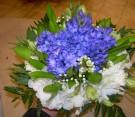 Bouquet di giacinti, lisianthus e waxflower
